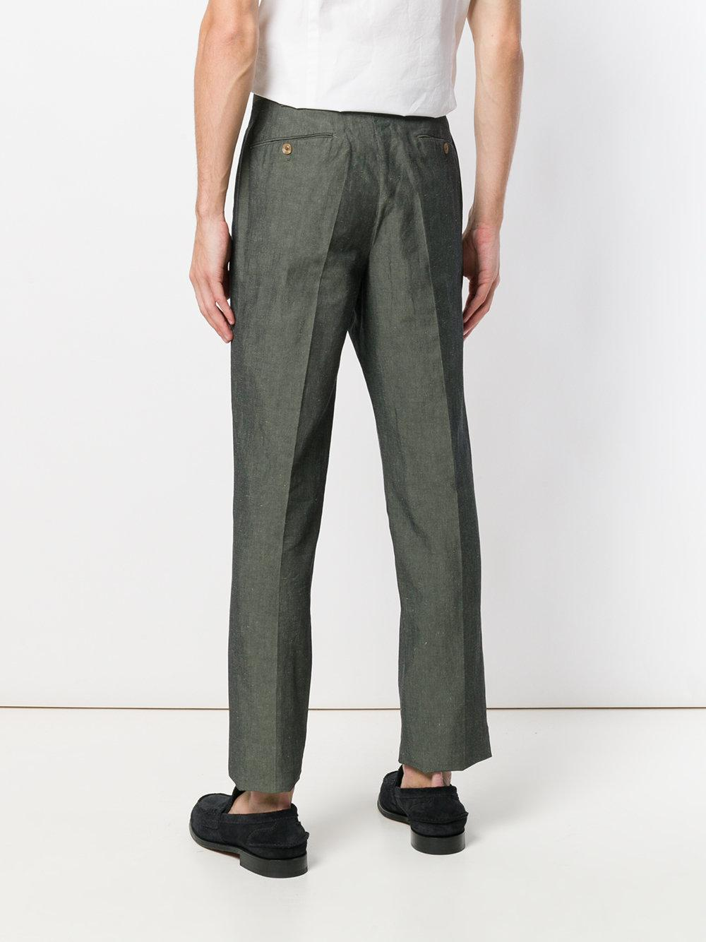 cropped chinos - Green PT01 lIBZyTpoW