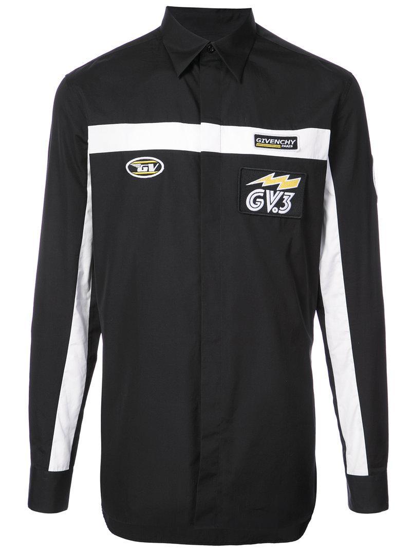 ca15286adb Givenchy Motocross Logo Shirt in Black for Men - Lyst
