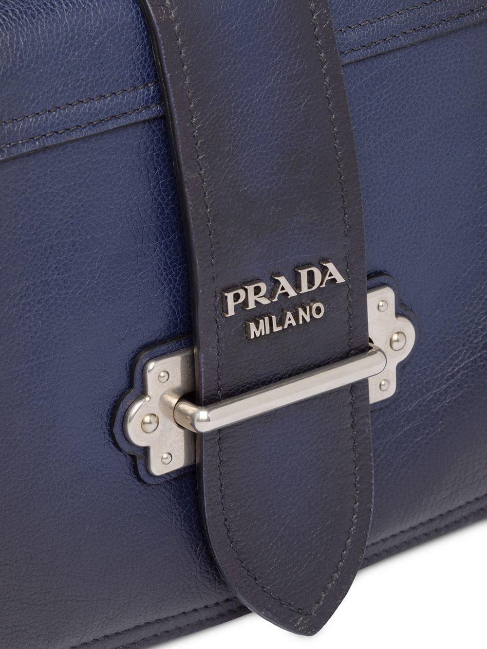 81e7f641297 Prada - Blue Cahier Shoulder Bag - Lyst. View fullscreen