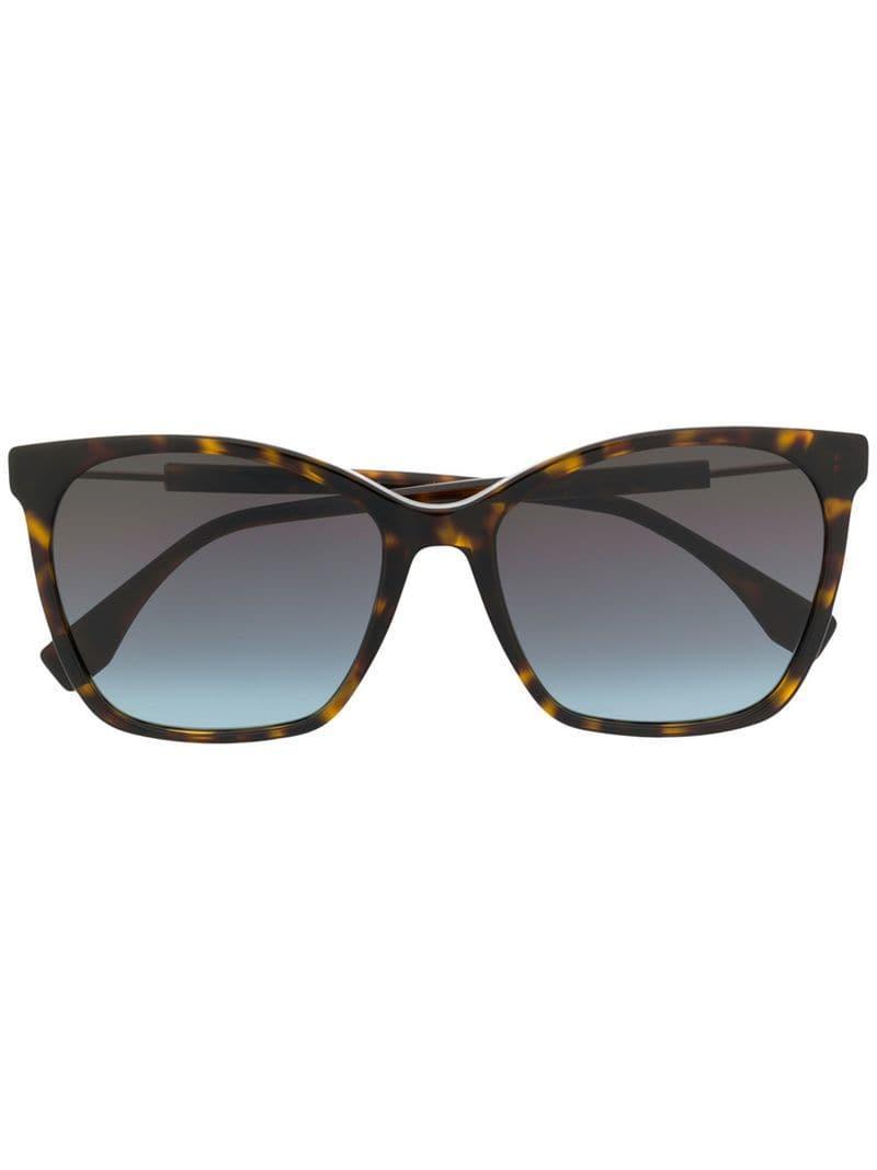 07a57fa5cb3c Lyst - Fendi Cat-eye Sunglasses in Brown