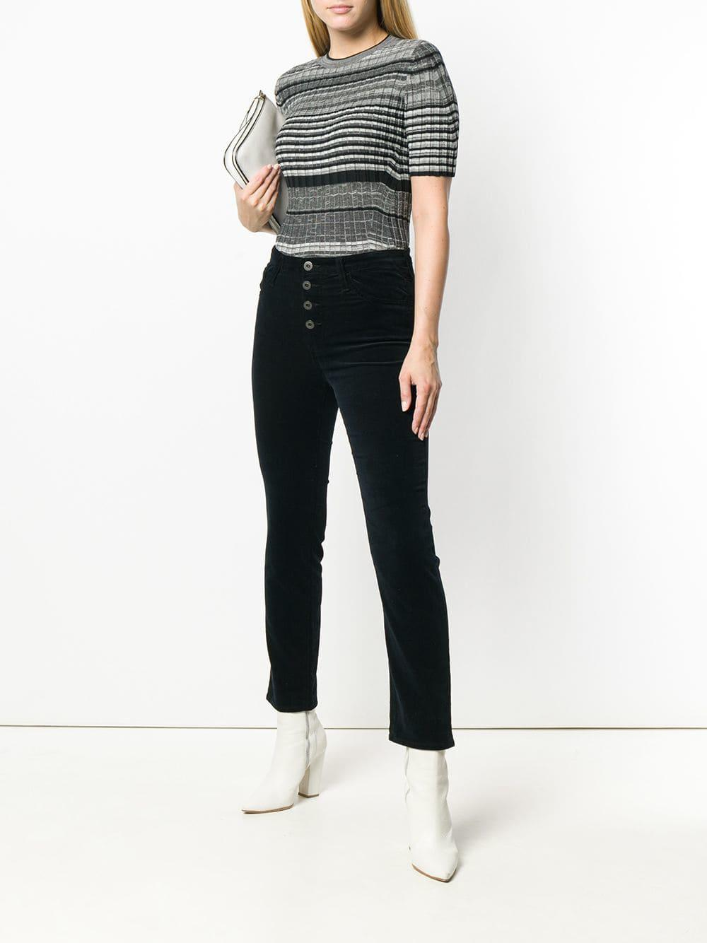 b98d8f5fce08 Lyst - Ag Jeans Isabelle Button Up Trousers in Black