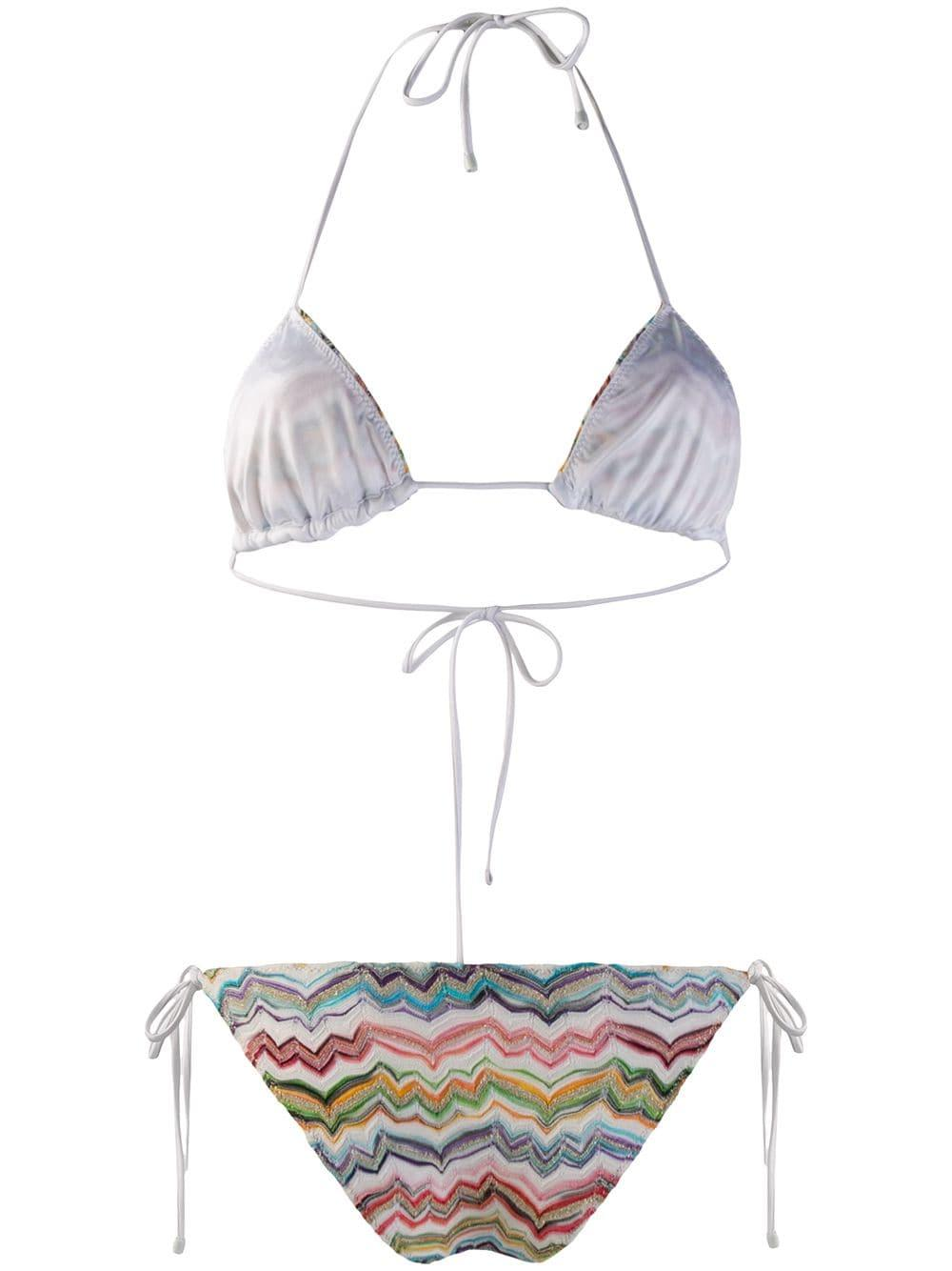 a98f50a99eefa Missoni Fine Knit Bikini Set in White - Lyst