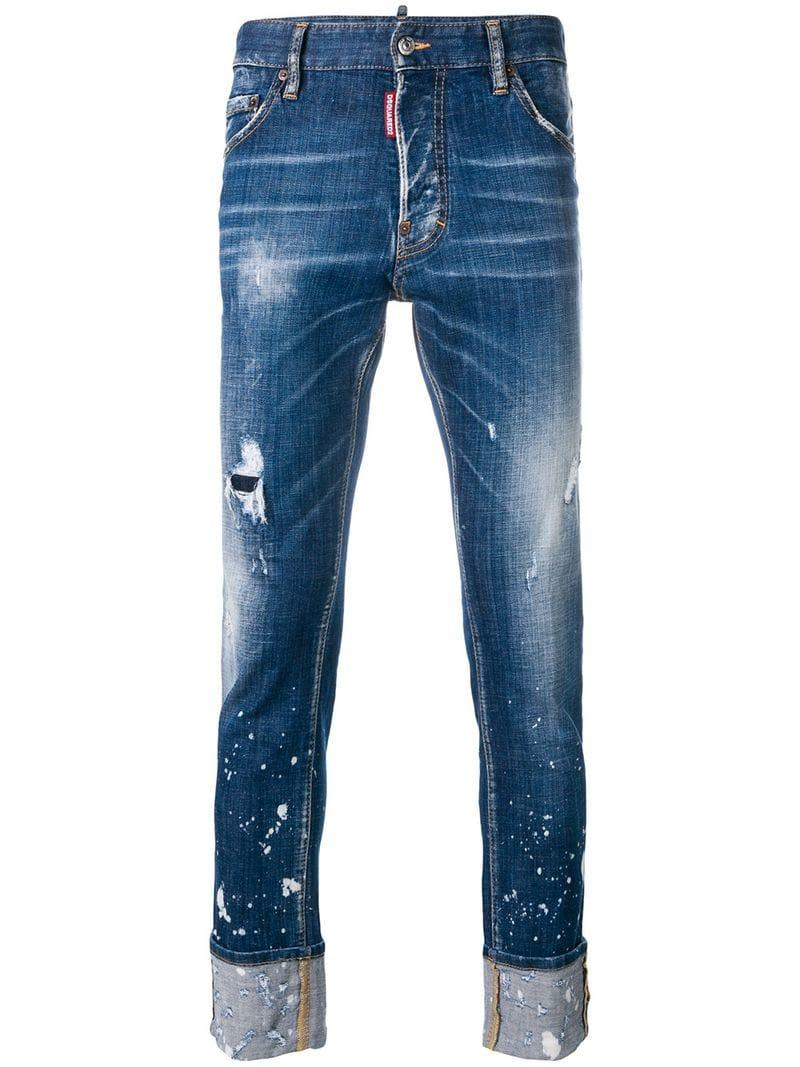b91ec48ca22 DSquared² Cool Guy Cropped Jean in Blue for Men - Lyst