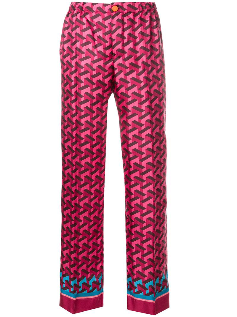 geometric print trousers - Pink & Purple F.R.S. For Restless Sleepers Newest UOi5kMp