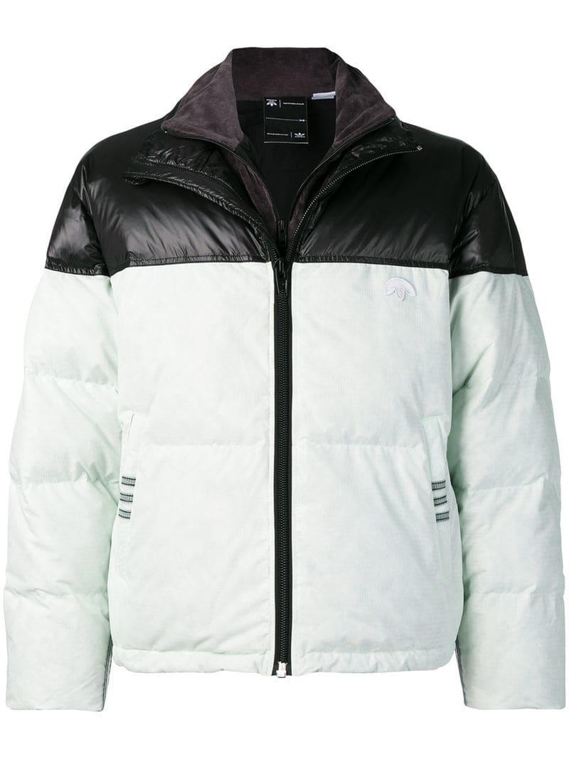 234bd53025b100 Lyst - Alexander Wang Two Tone Padded Jacket in Green - Save 44%