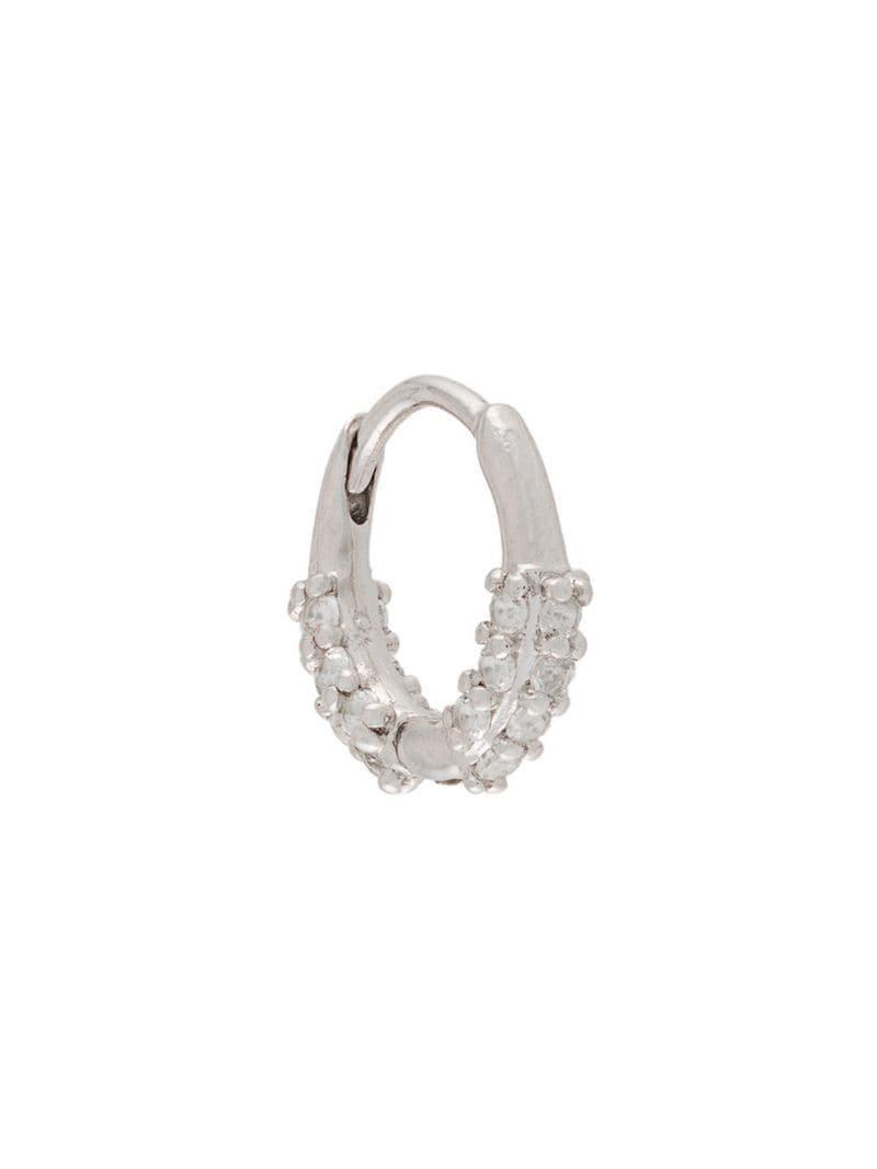 dddc71b49 Otiumberg Oval huggie Hoop Silver in Metallic - Lyst