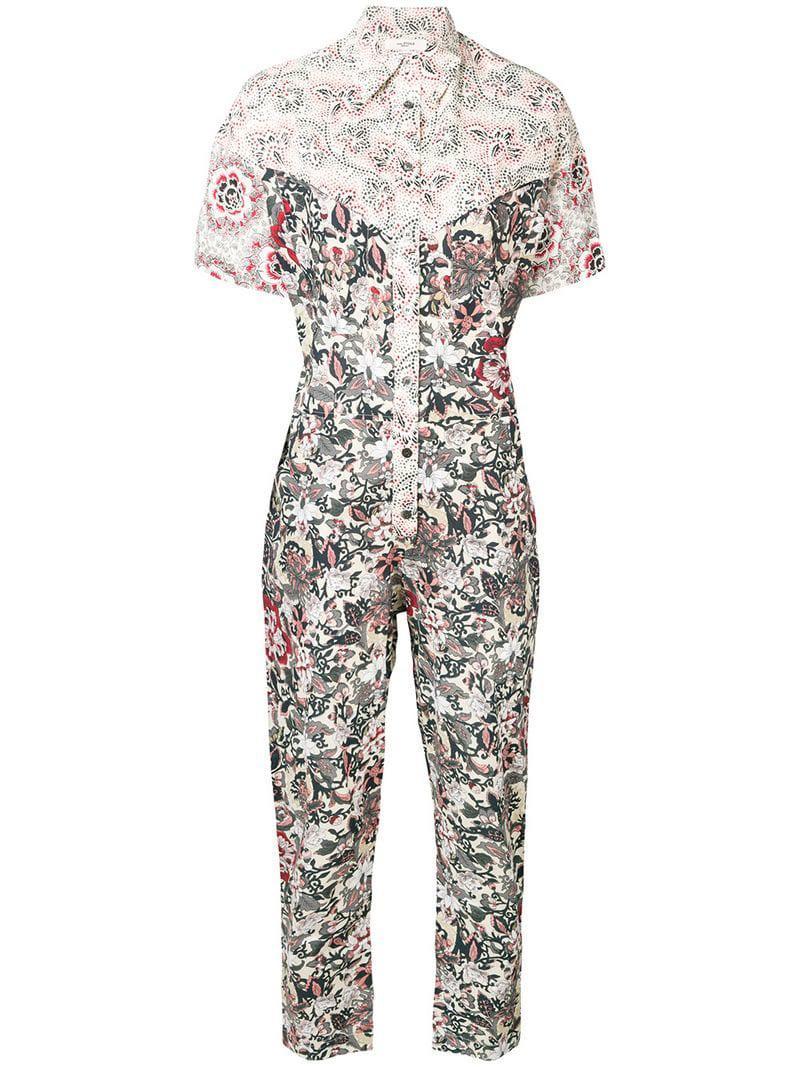 14324a1d8e Étoile Isabel Marant Lindsie Printed Jumpsuit in Black - Lyst