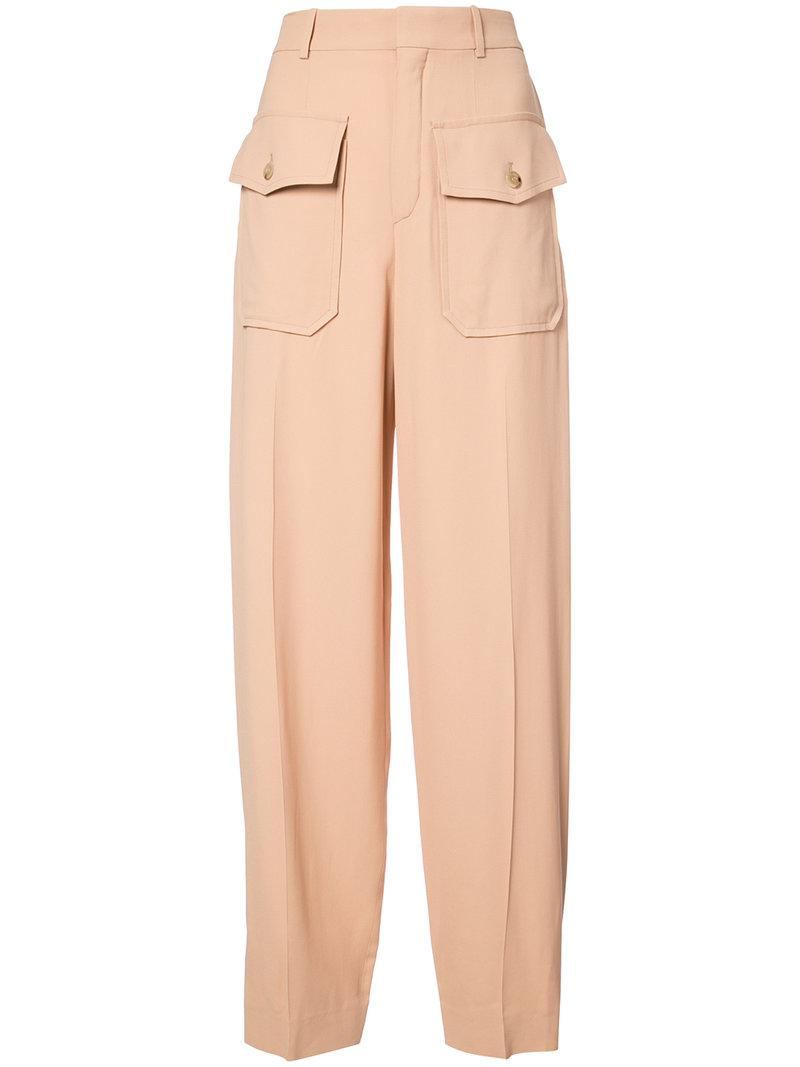 pocket embellished trousers - Brown Chloé bCtW09tR