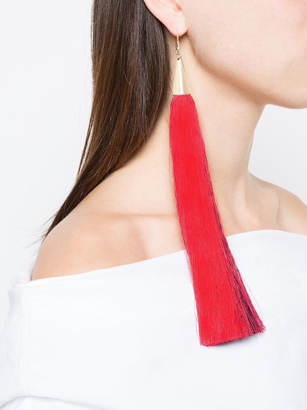 Eddie Borgo fringed earring - Red 8og7pe5R