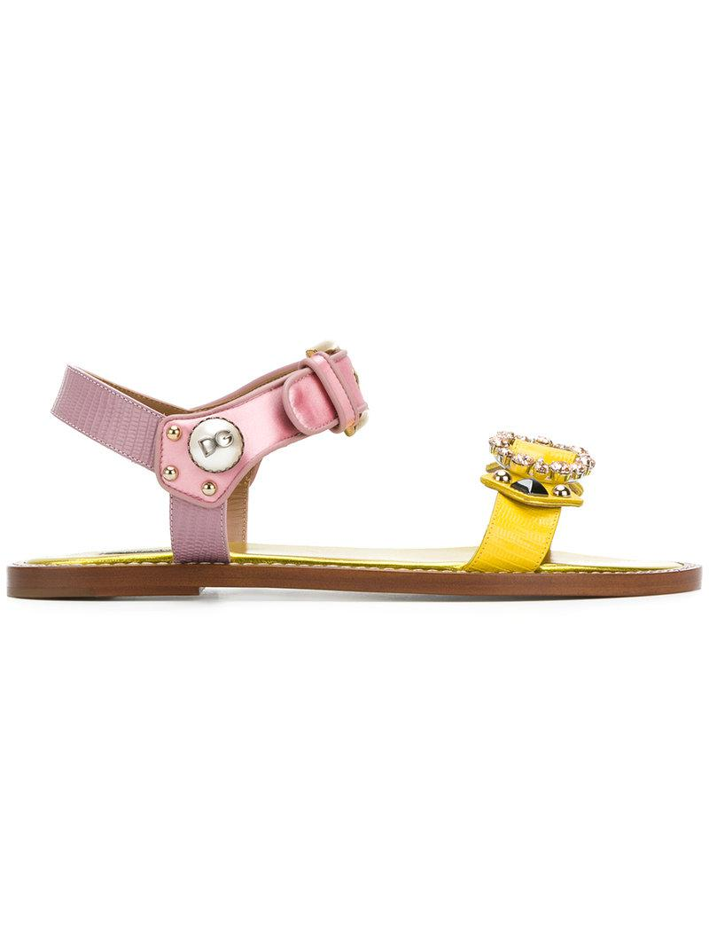 appliqué sandals - Yellow & Orange Dolce & Gabbana 6mHhqjLac
