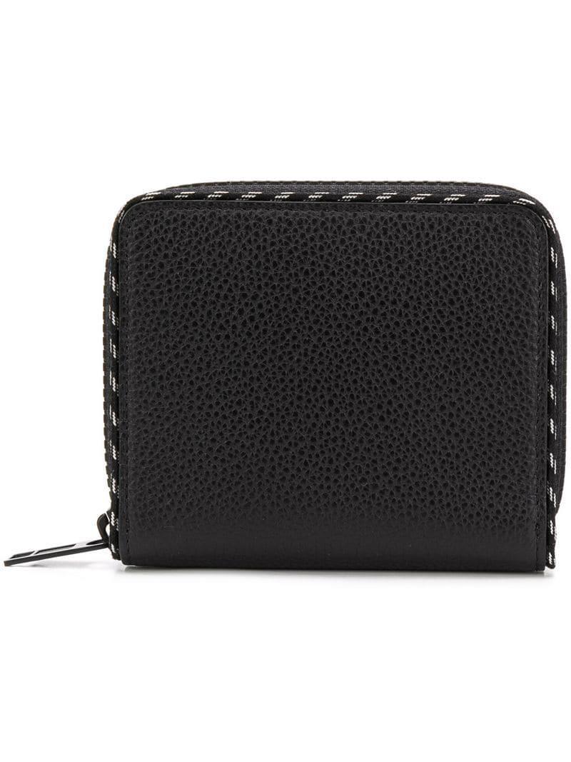 5f7f3fe06c0e Lyst - Maison Margiela Stippled Trim Wallet in Black for Men