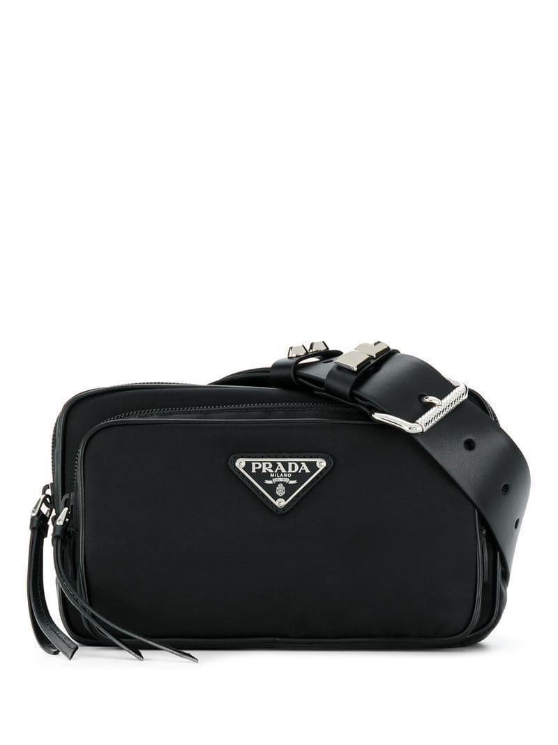 f0c7c65f951d Prada - Black Studded Belt Bag - Lyst. View fullscreen