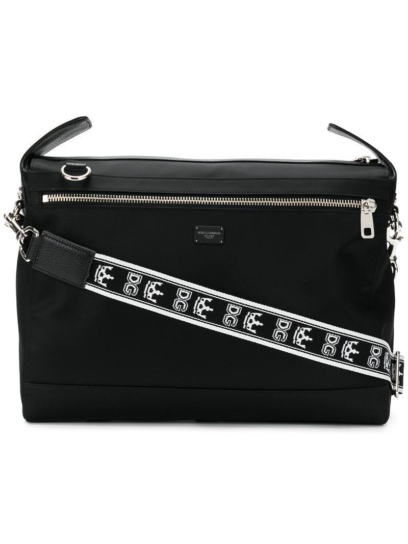 Dolce   Gabbana Branded Strap Messenger Bag in Black for Men - Lyst 5e4e34a572c6f