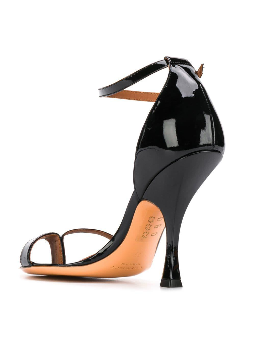 48f9f31012d4 Lyst - Y. Project Crystal Embellished Ankle Strap Sandals in Black