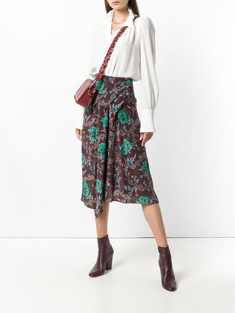c4c23c0d89 Isabel Marant Cacia Skirt in Red - Lyst