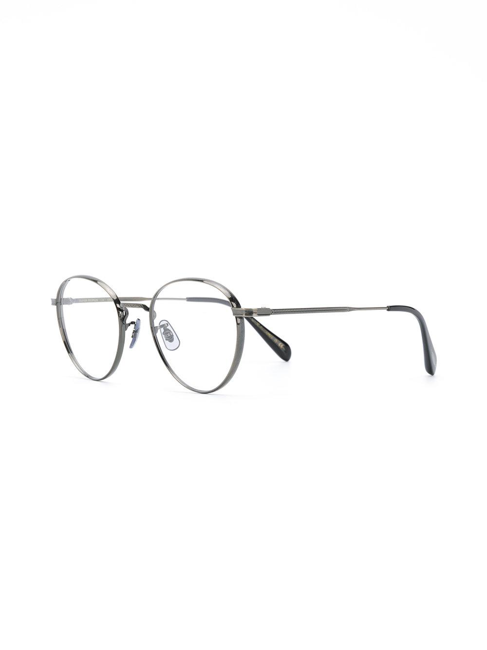 df88c0b8e85 Oliver Peoples Round-frame Glasses in Metallic - Lyst