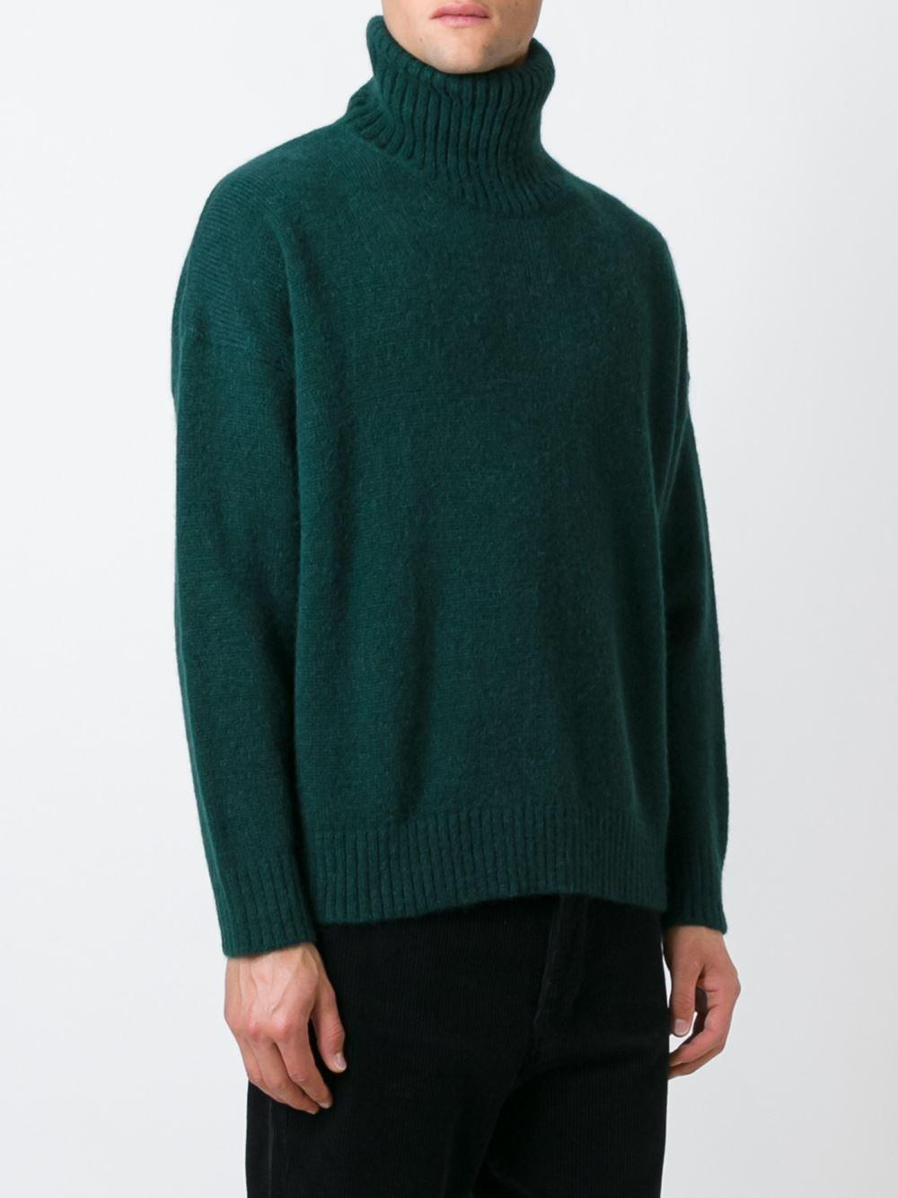 Ami Oversized Turtleneck Sweater in Blue for Men | Lyst