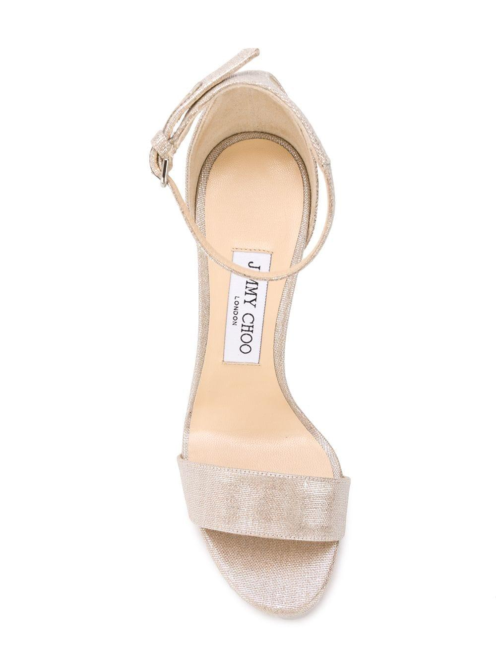 52caa06d919 Jimmy Choo - Metallic Misty 120 Sandals - Lyst. View fullscreen