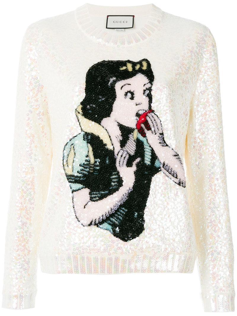4ec9bfda970 Lyst - Gucci Snow White Knit Sweater in White