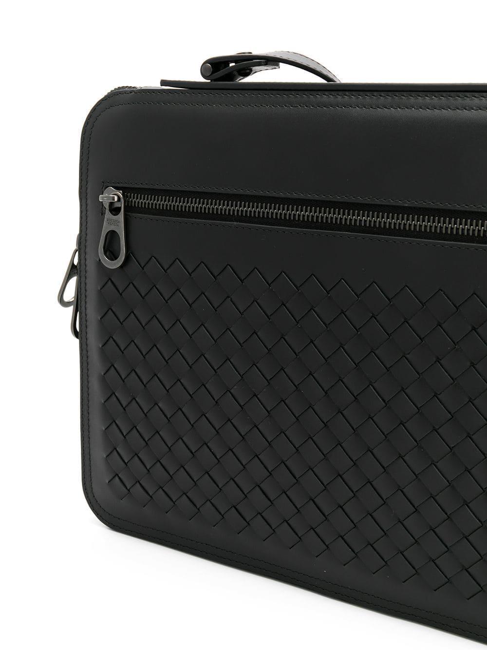 f48e8030e2e4 Bottega Veneta Intrecciato Weave Briefcase in Black for Men - Lyst