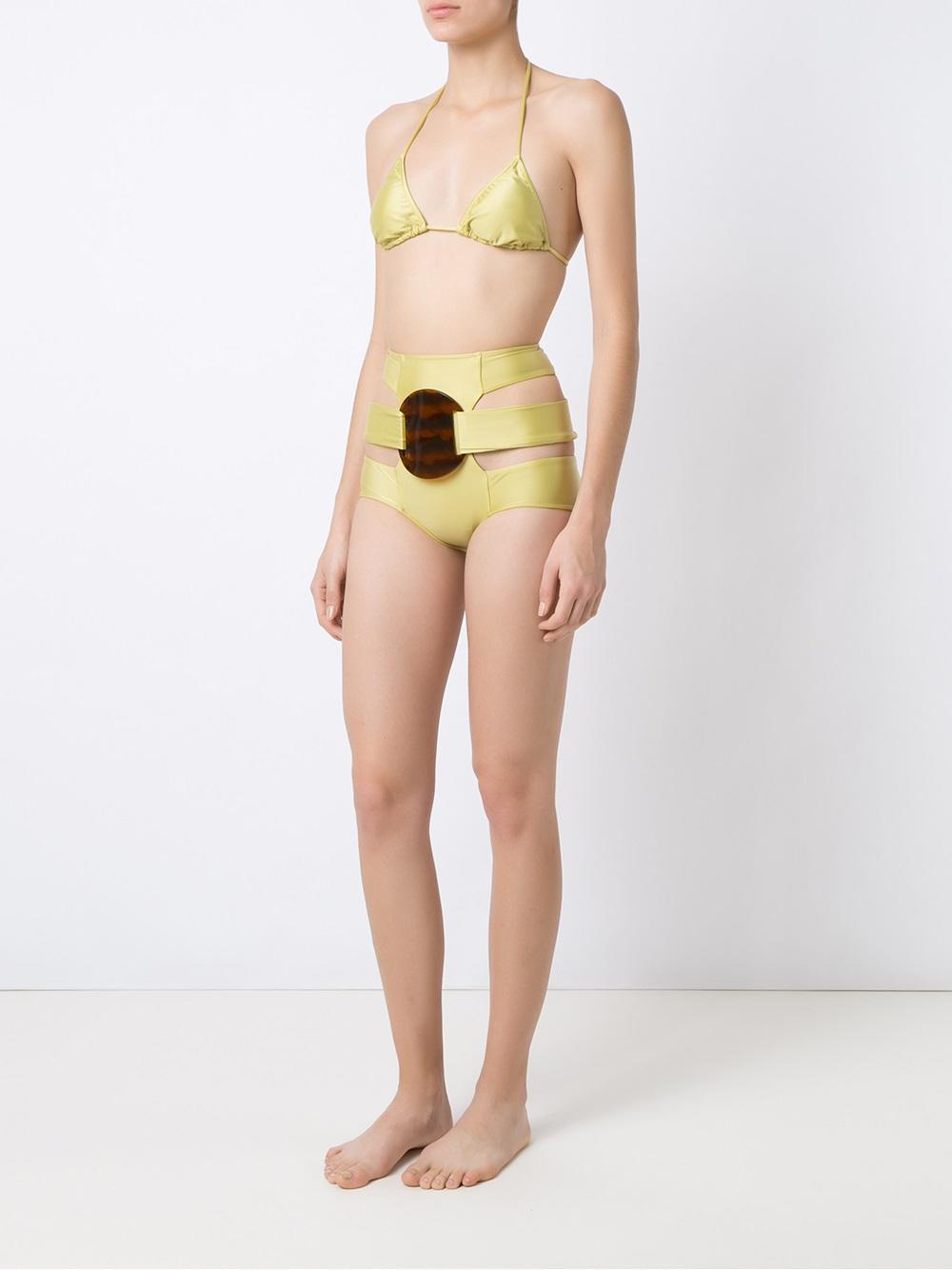 77f394690b9e6 Adriana Degreas - Green Triangle Bikini Set - Lyst. View fullscreen
