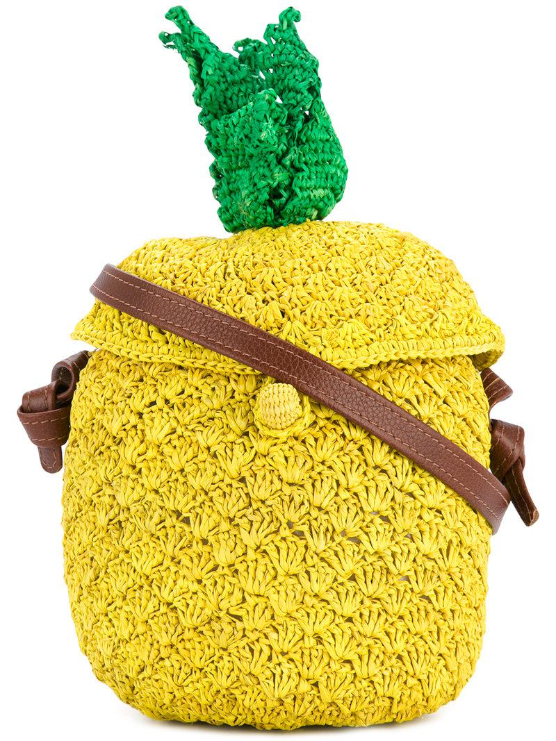 Cheap Pictures Wholesale Price Online pineapple woven bag - Yellow & Orange Sensi Studio Outlet Recommend 7TDE0ME2oe