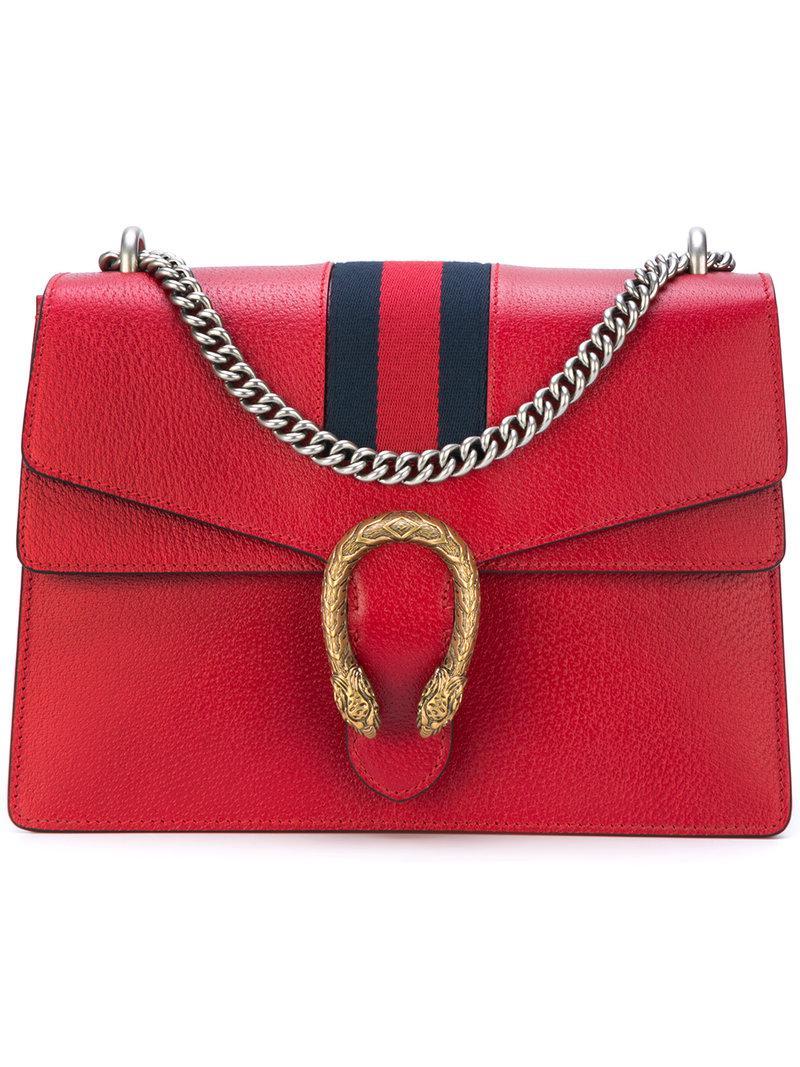 c07c2b75faf6 Gucci Dionysus Web Shoulder Bag in Red - Lyst