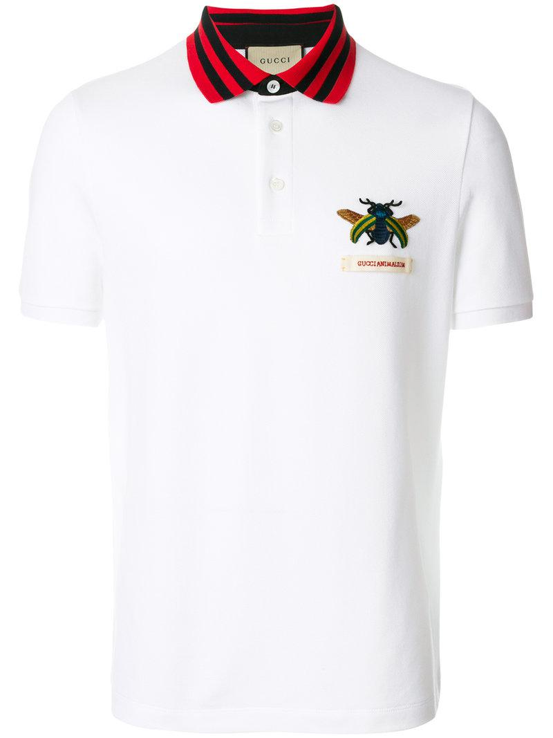 84ed0ca46db Lyst - Gucci Animalium Polo Shirt in White for Men