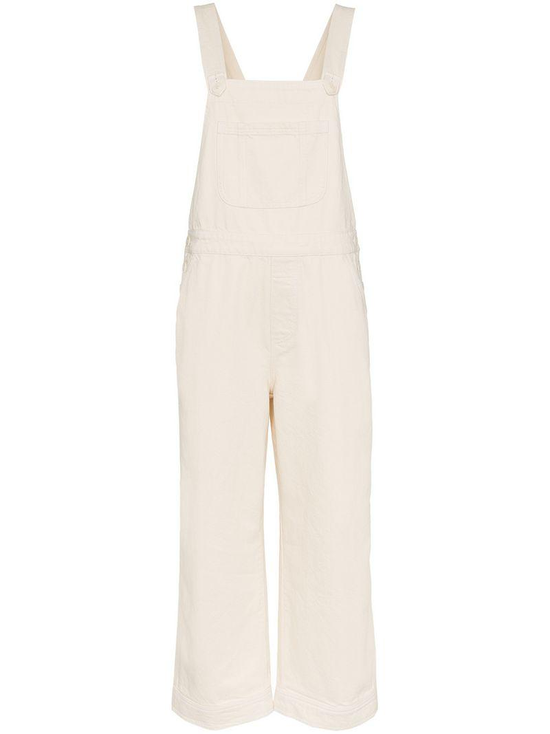 e5ff20aa6a32 Ganni Bluebell Denim Dungarees in Natural - Lyst