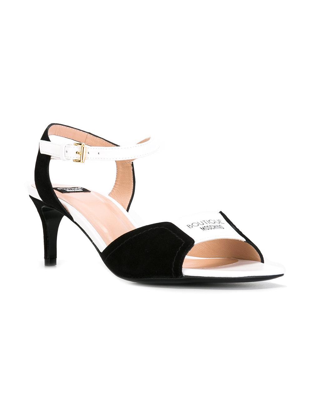 Sandales De Contraste Boutique Moschino - Noir uifK2cC