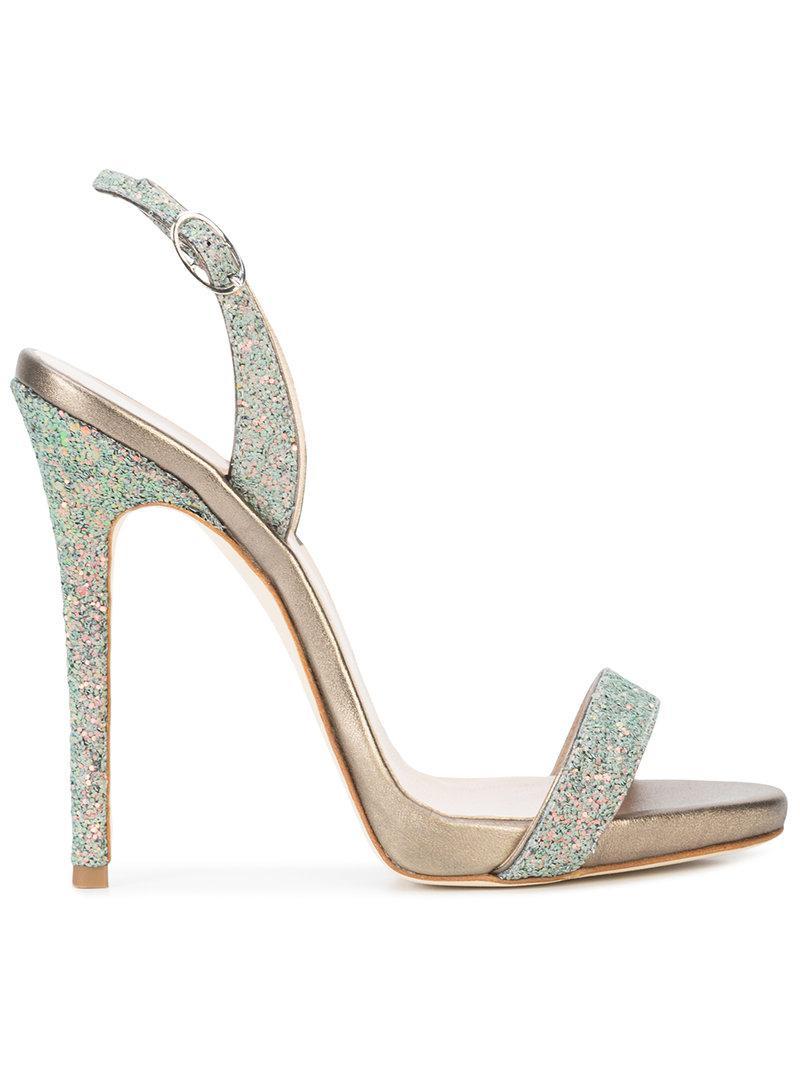 Giuseppe Zanotti Patent sandal with glitter SOPHIE GLITTER hE1T3Q4