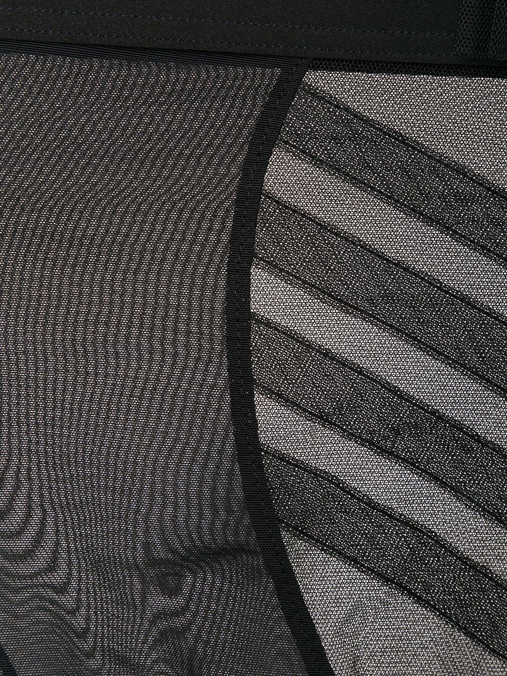 baf0c1d7e6c Chantal Thomass - Black Sheer Embroidered Briefs - Lyst. View fullscreen