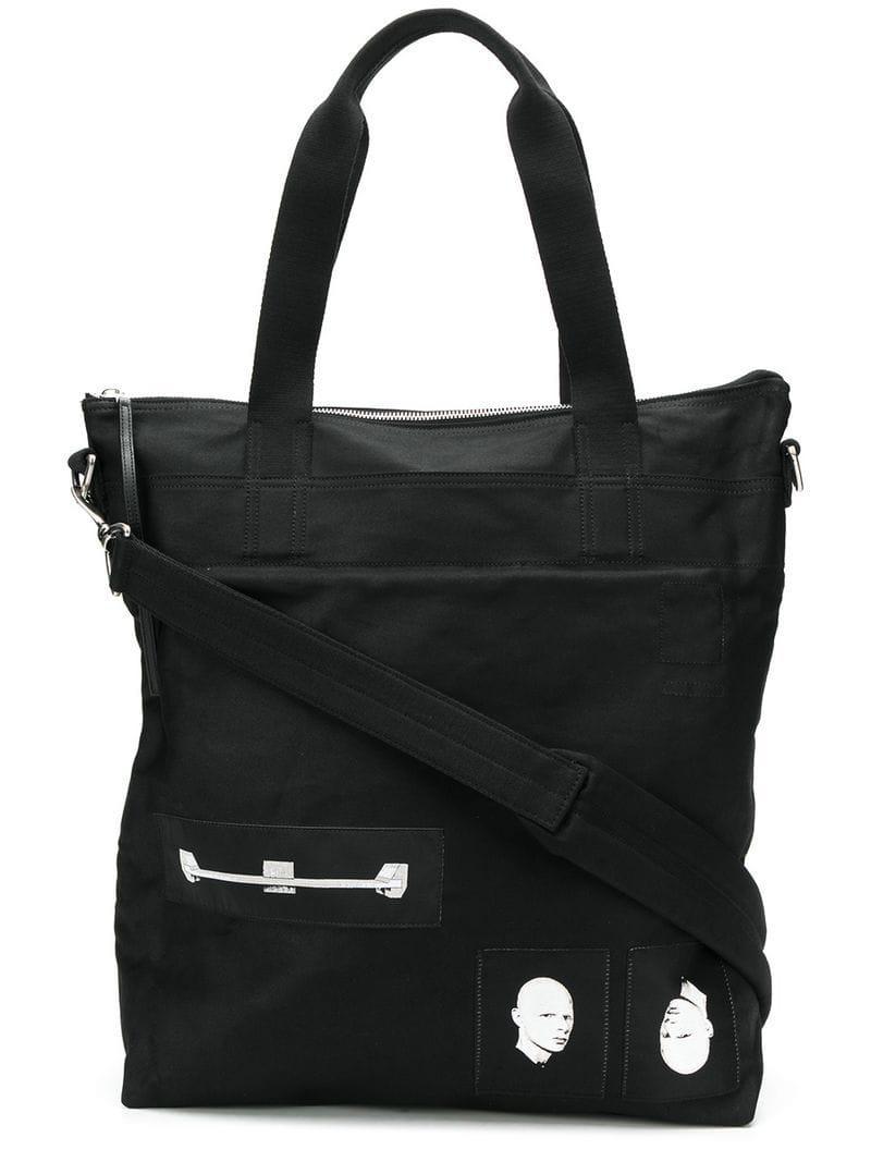 Rick Owens Drkshdw Patch Tote Bag in Black for Men - Save 50% - Lyst dd63260089baf