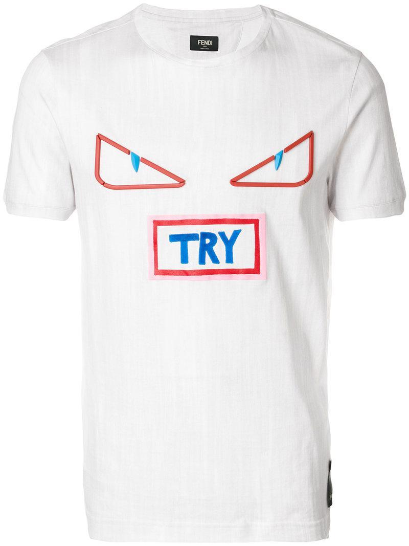 Lyst Fendi Bag Bugs Try T Shirt In White For Men