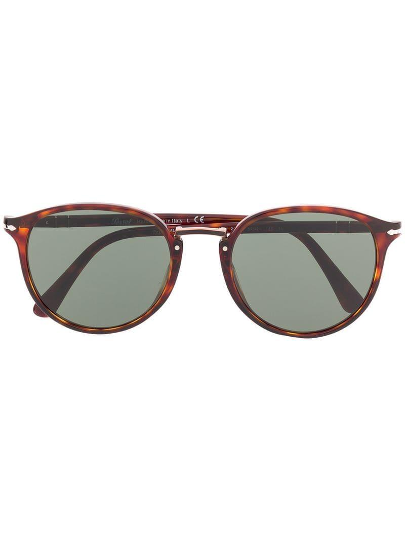 c5800afc0d700 Lyst - Persol Round Frame Sunglasses in Brown - Save 1%