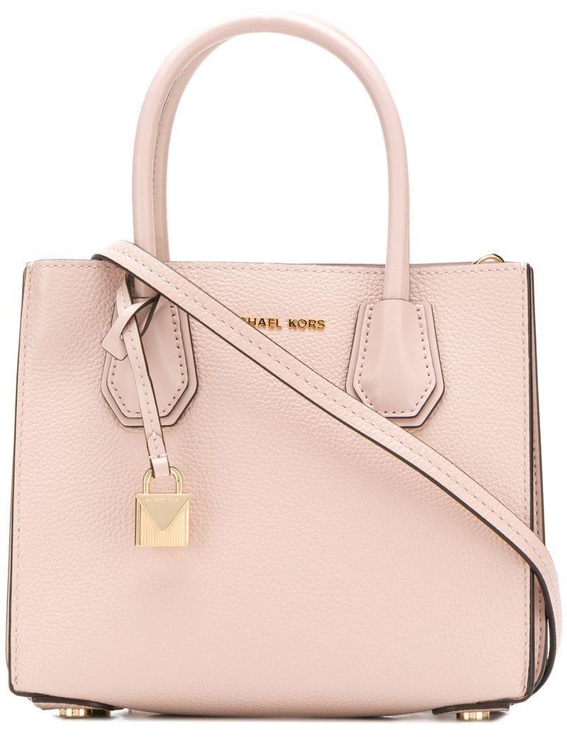 Michael Michael Kors Mercer Tote Bag in Pink - Lyst 1bf128ea3