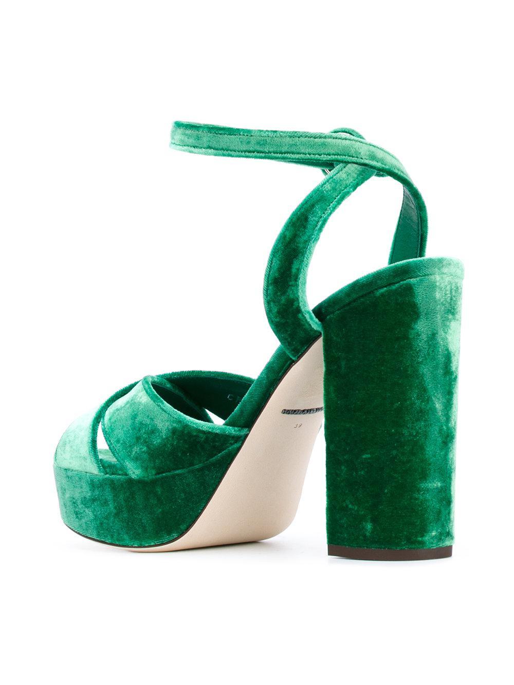 3a143060d0c Dolce   Gabbana - Green Platform Sandals - Lyst. View fullscreen