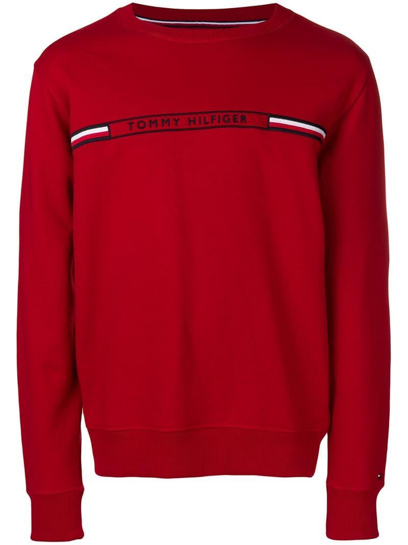 d15f9f4d Tommy Hilfiger - Logo Embroidered Sweatshirt for Men - Lyst. View fullscreen