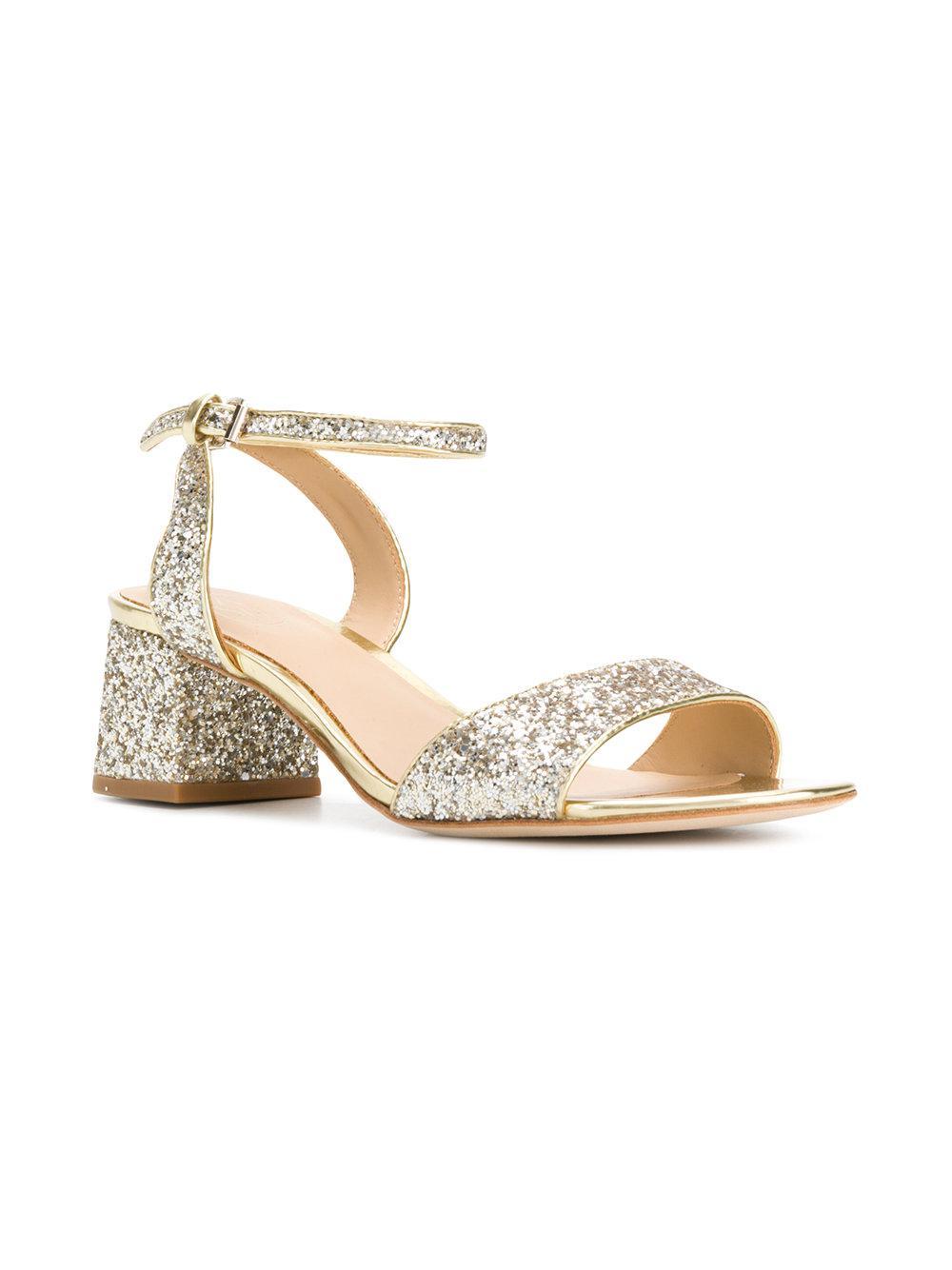 glitter block heel sandals - Metallic Ash KtB9sa