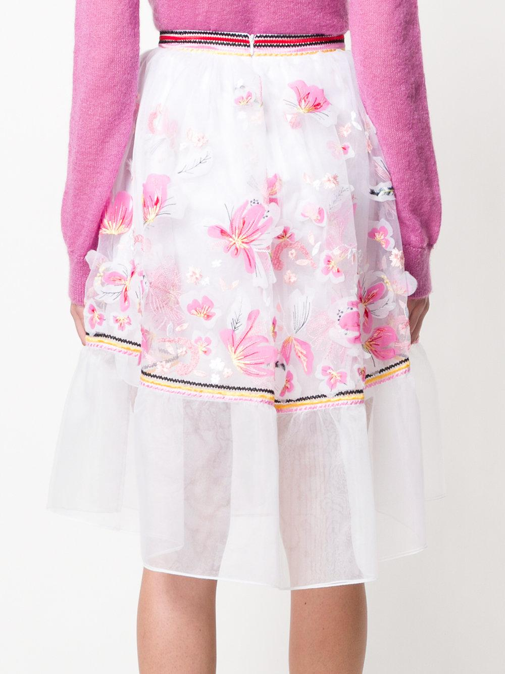 embroidered organza midi skirt - Multicolour Ermanno Scervino Newest Online Buy Cheap Outlet sqb5yXdS
