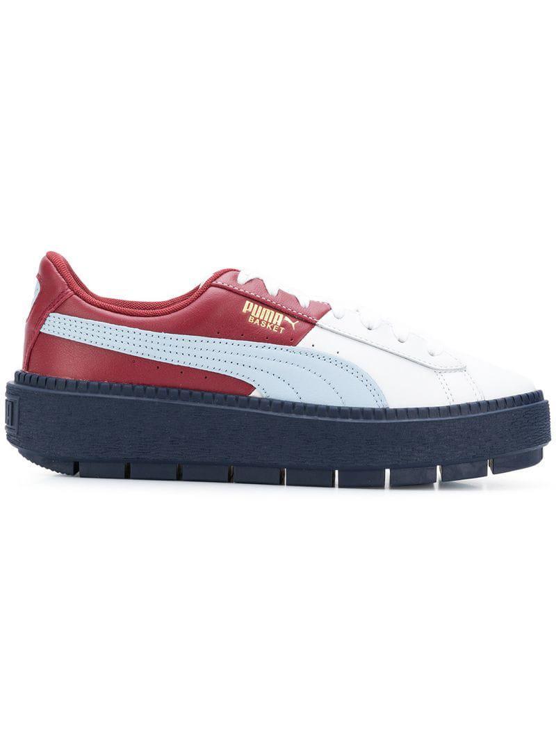 810670057c9f2b Lyst - Puma Platform Trace Sneakers in Red