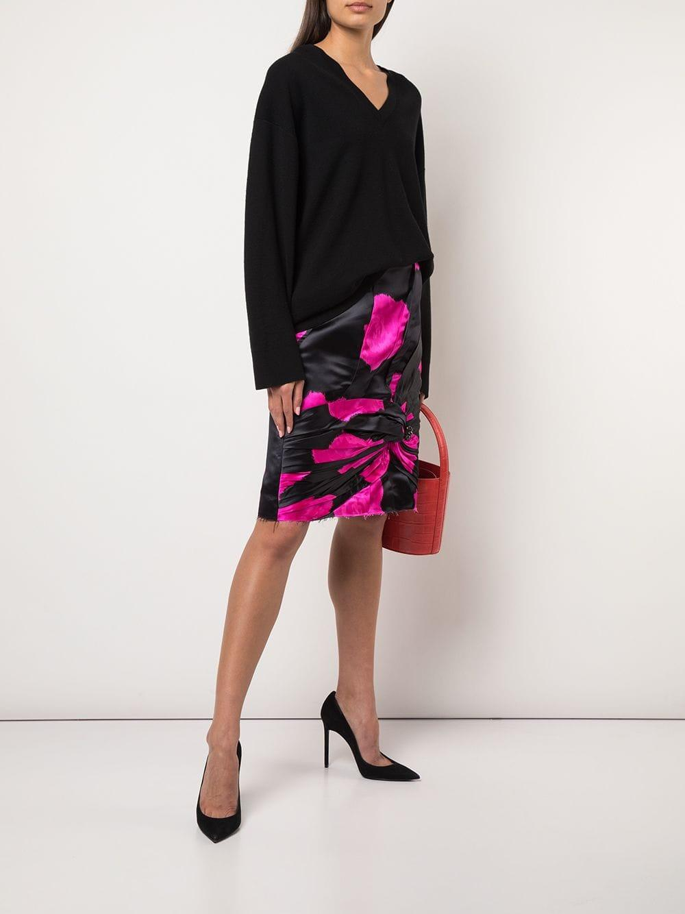 d2932e76c7 Lyst - CALVIN KLEIN 205W39NYC Knot Detail A-line Skirt in Black