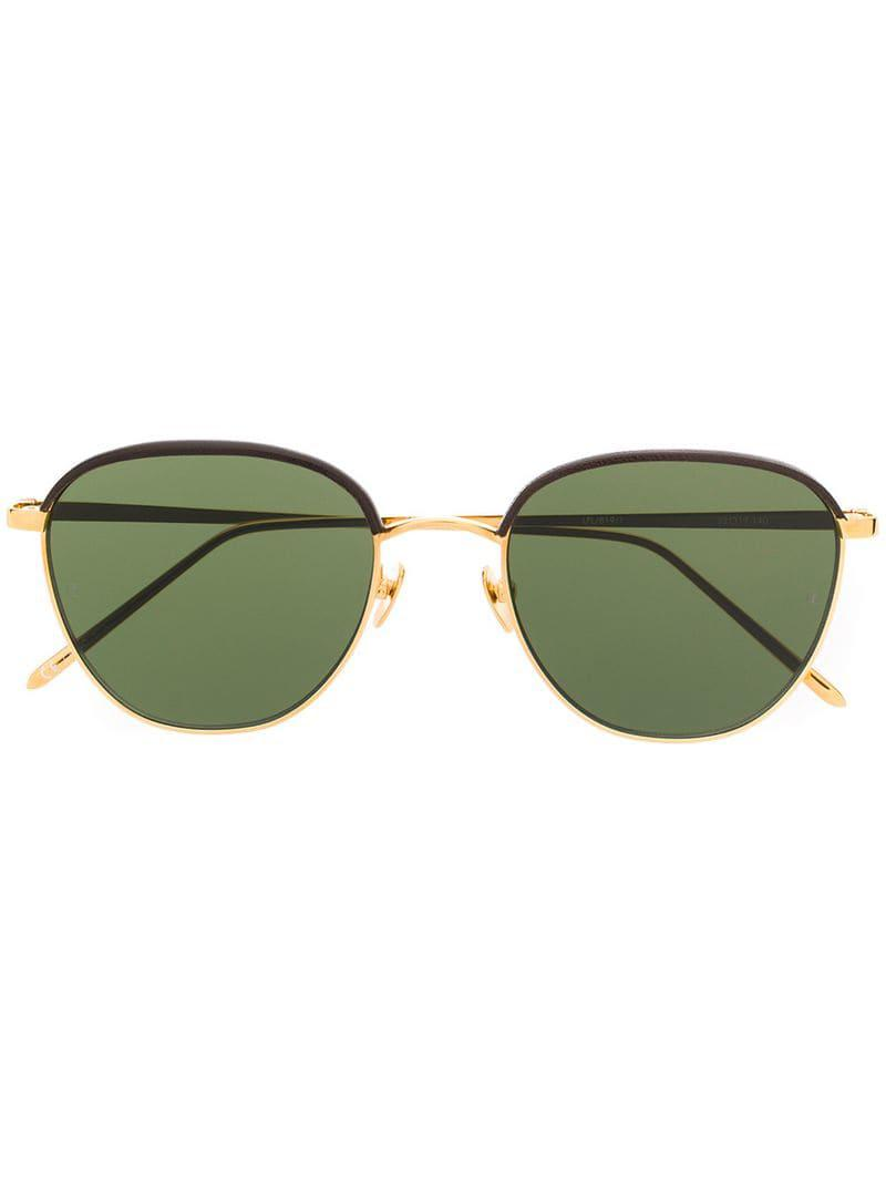 ba2eda8f80 Linda Farrow 819 C6 Sunglasses in Metallic for Men - Lyst
