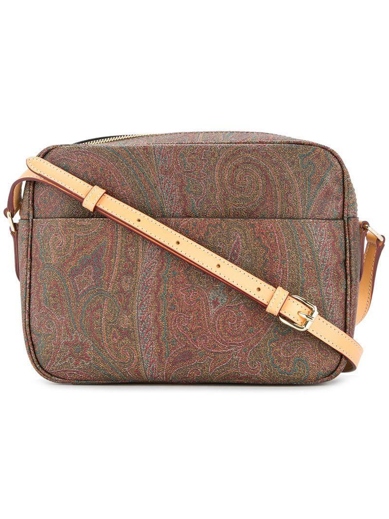 9327258ba Etro Paisley Crossbody Bag in Brown - Lyst