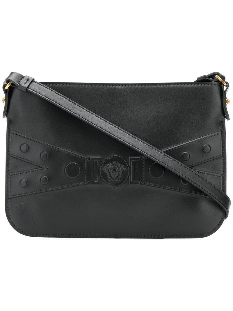Versace Medusa Crossbody Bag in Black - Lyst 8fd947496af28