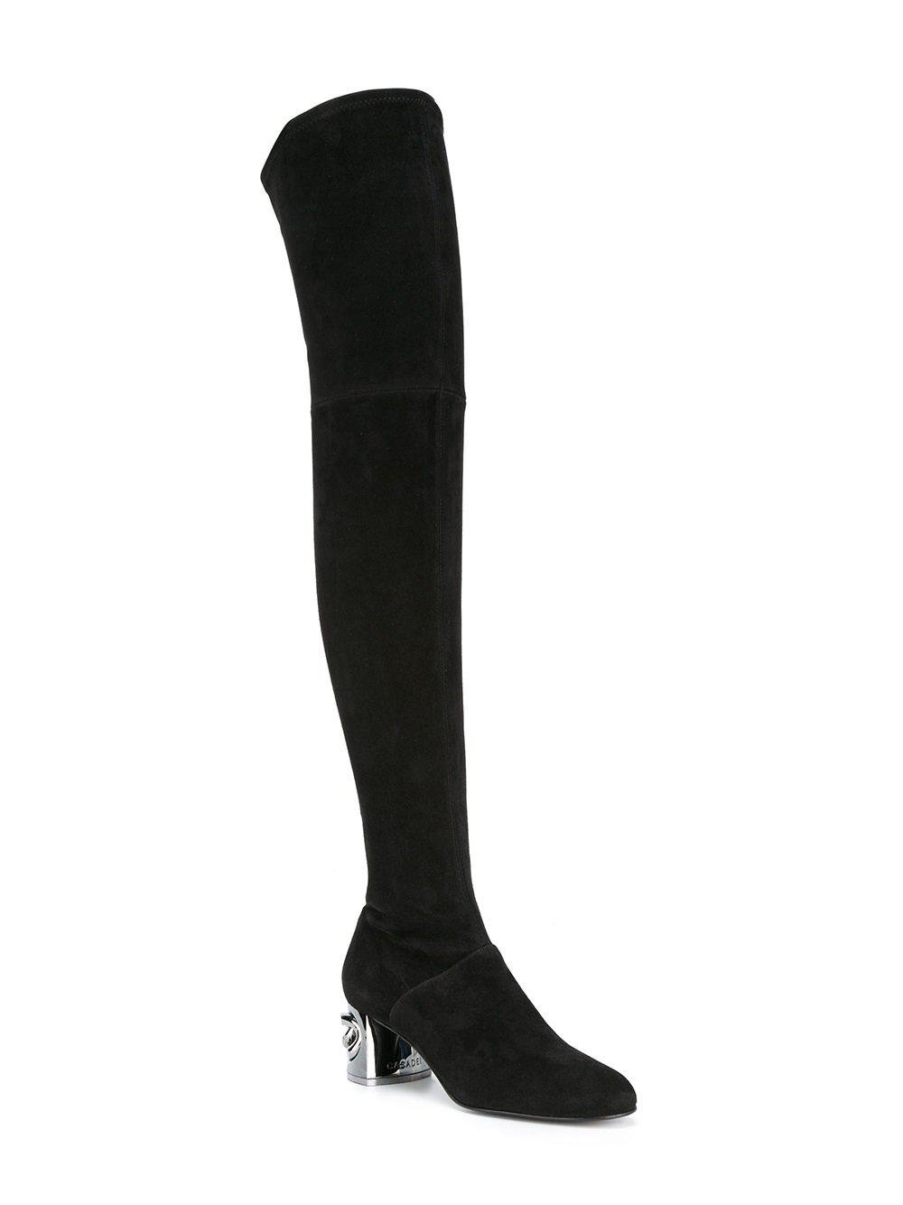 8745dabeecf Lyst - Casadei Maxi Chain Thigh-length Boots in Black