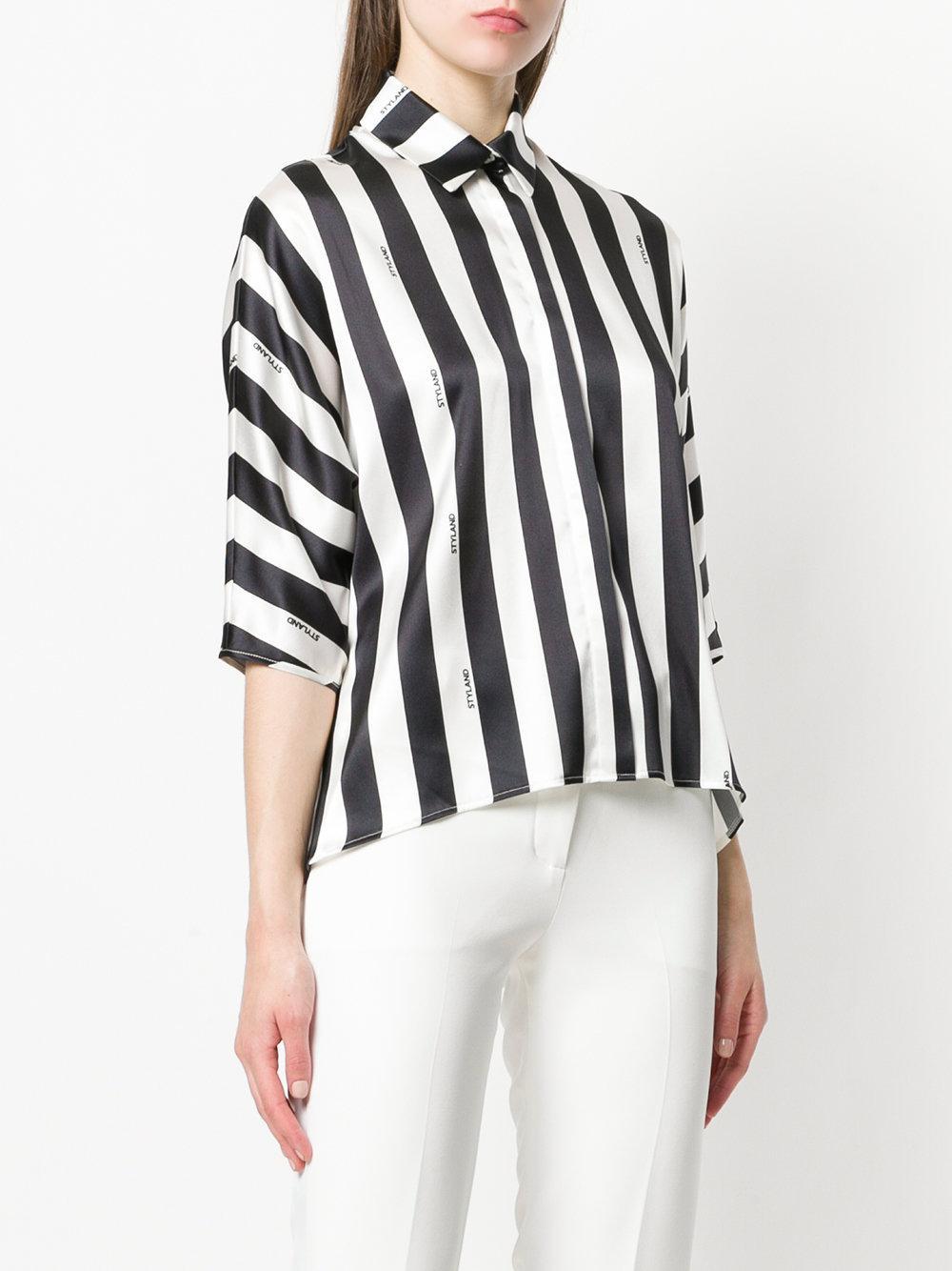 2018 Cheap Online classic collar blouse - Black Styland Cheap Sale Very Cheap N4JXInZ