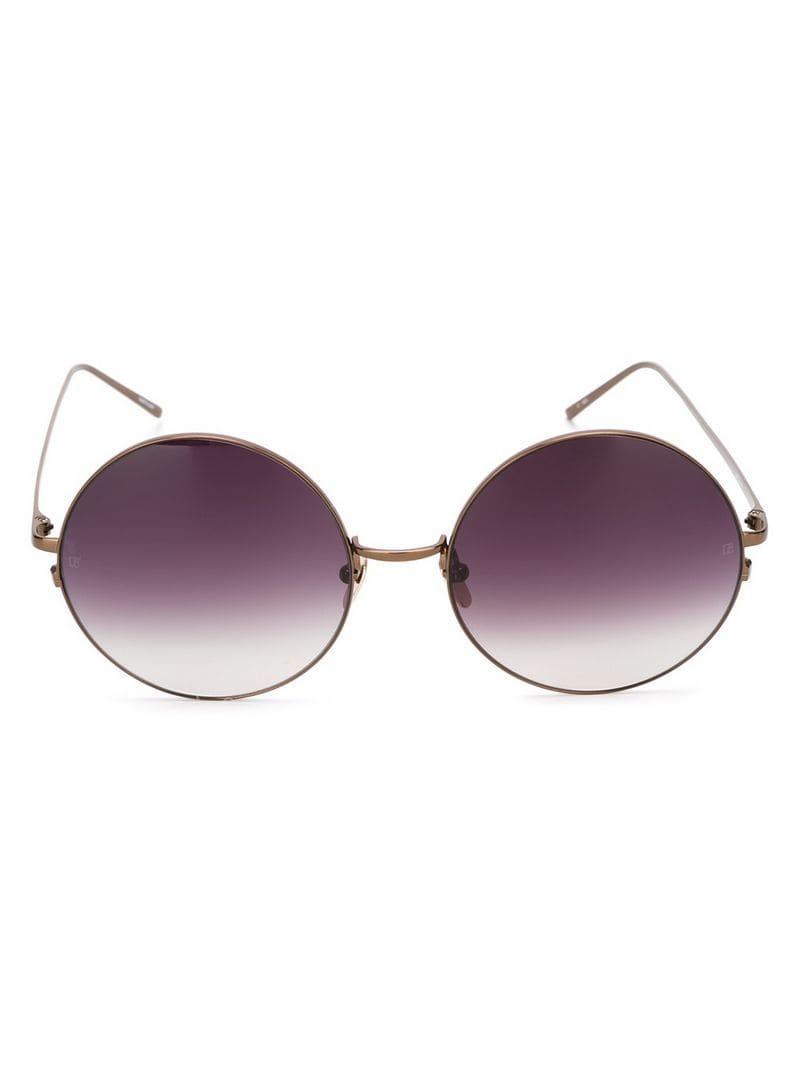 4b68d5bf45e Lyst - Linda Farrow  343  Sunglasses in Brown