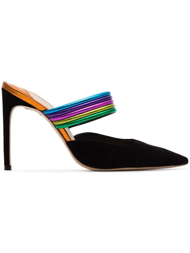 6b48bd79499 Lyst - Sophia Webster Women s Joy Pointed Toe Leather   Suede High ...