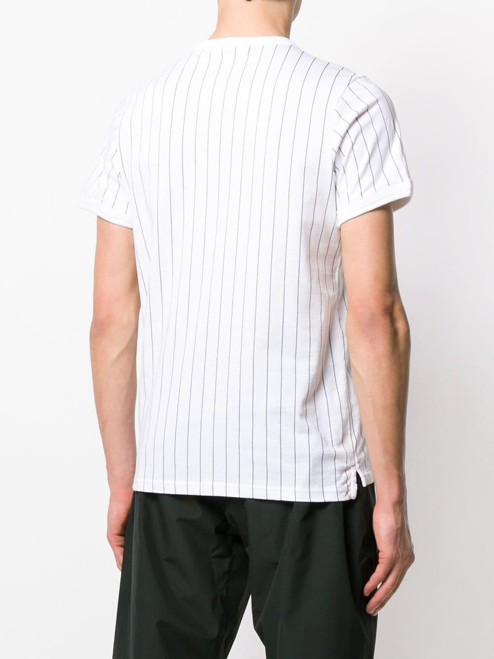 797fec14ee Fila - White Striped Logo T-shirt for Men - Lyst. View fullscreen